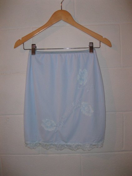 Betty Draper bllue half slip pretty