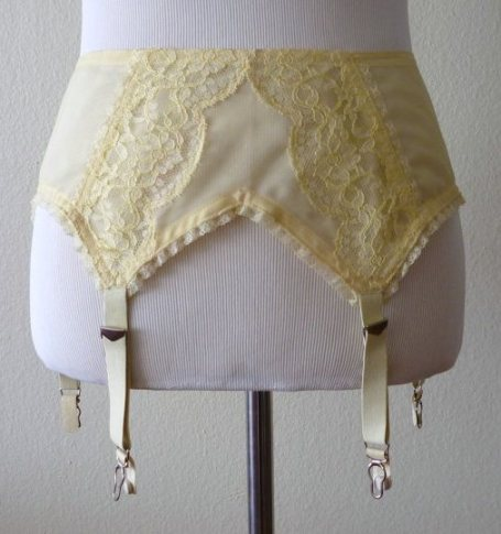 Betty Draper lemon garter
