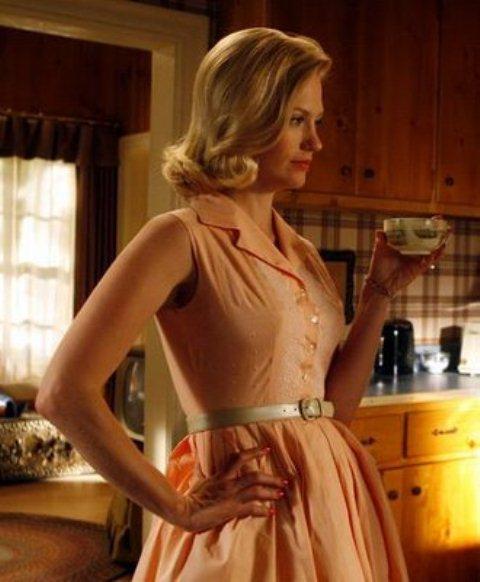 BettyDraper dress with long line bra