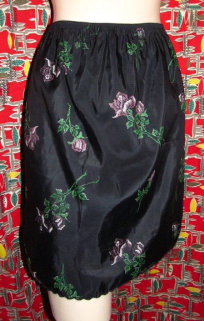 black floral slip]