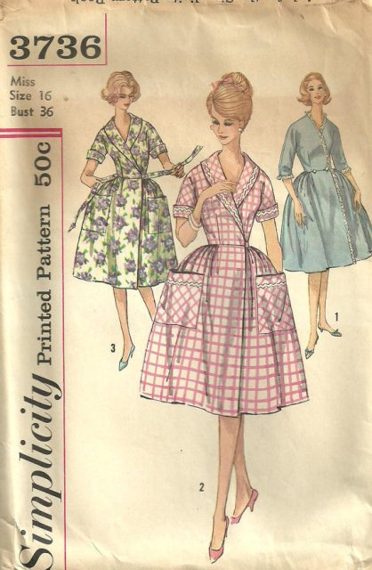 House coat pattern sewing project