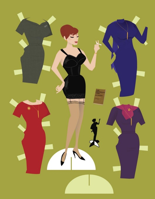 joan holloway paper doll