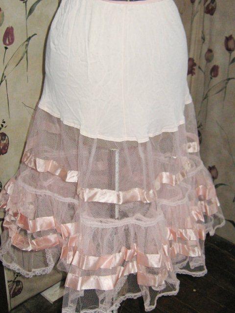 pink net crinoline