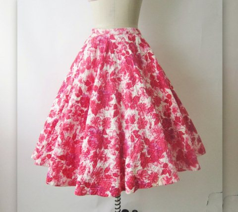 quilted full cuircle skirt