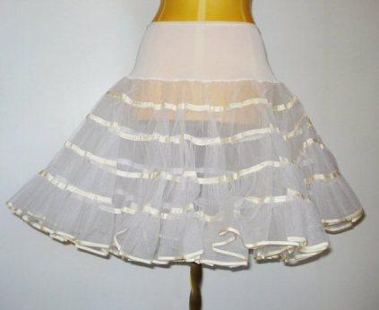white crinoline