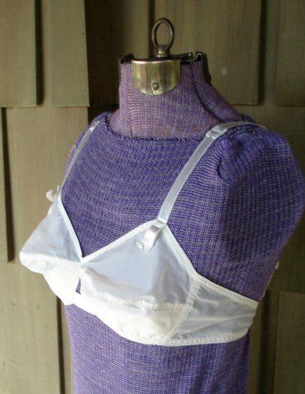 60s white bra