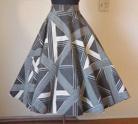 geometric circle skirt