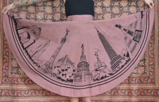 novelty circle skirt pink