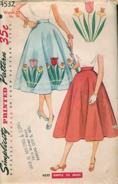 novelty circle skirt