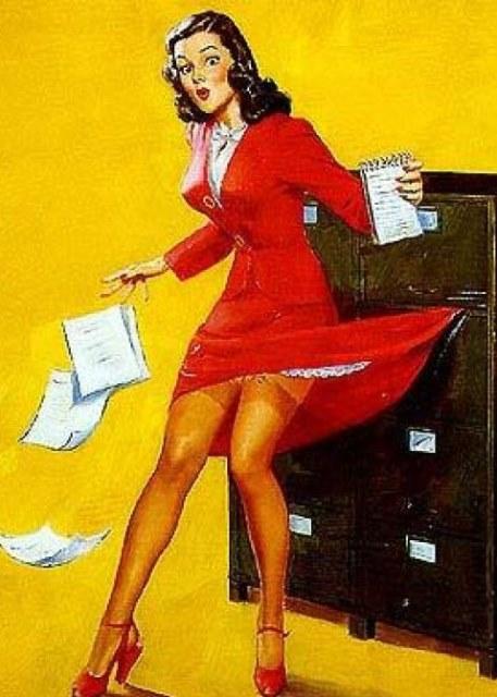 vintage secretary photo