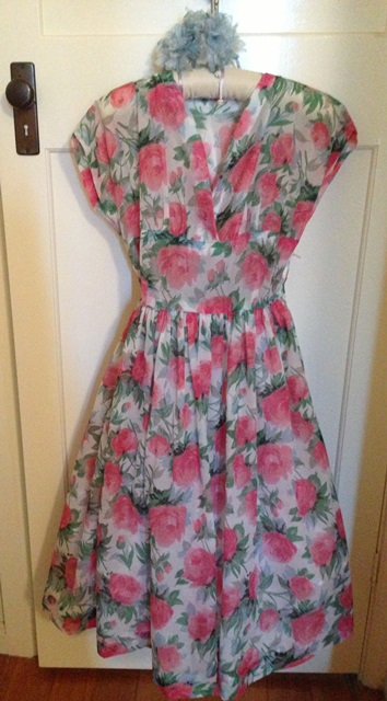 1950's rose print dress