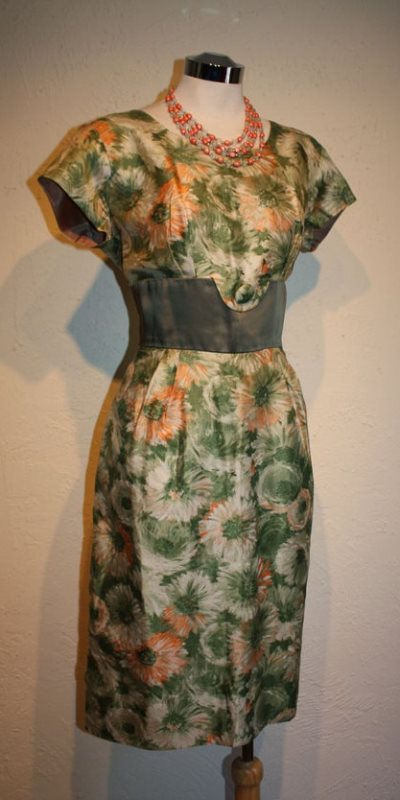 green floral joan dress