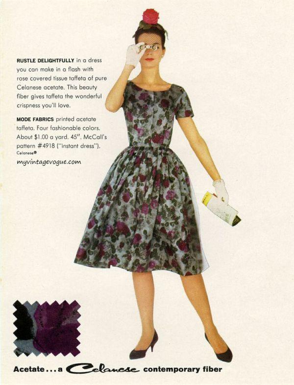 celanese floral dress